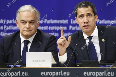 Editorial photo of Venezuelan opposition leader Juan Guaido visit to European Parliament, Brussels, Belgium - 22 Jan 2020