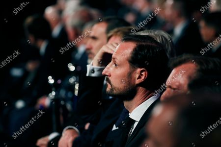 Norway's Crown Prince Haakon attends the Fifth World Holocaust Forum at the Yad Vashem Holocaust memorial museum in Jerusalem, Israel, 23 January 2020. The event marking the 75th anniversary of the liberation of Auschwitz under the title 'Remembering the Holocaust: Fighting Antisemitism' is held to preserve the memory of the Holocaust atrocities by Nazi Germany during World War II.