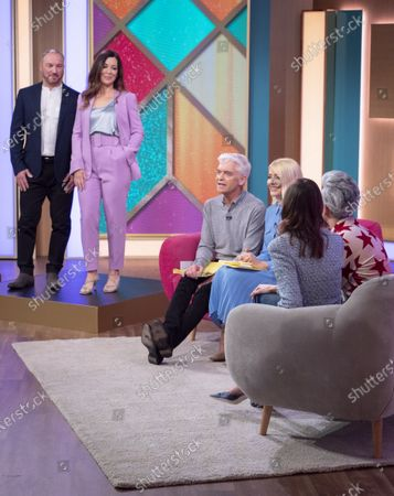 Phillip Schofield and Holly Willoughby with Tan France and Alexa Chung