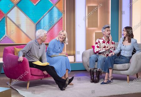 Stock Photo of Phillip Schofield and Holly Willoughby with Tan France and Alexa Chung