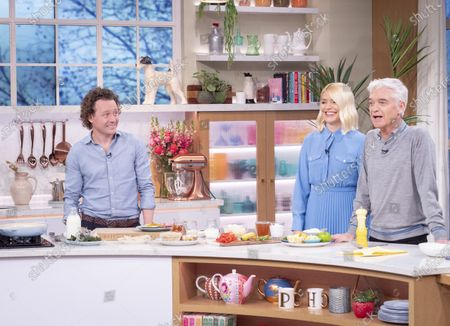 Phillip Schofield and Holly Willoughby with Tom Kitchin