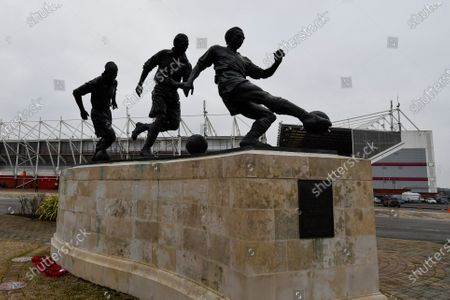 25th January 2020, Bet365 Stadium, Stoke-on-Trent, England; Sky Bet Championship, Stoke City v Swansea City : The Sir Stanley Matthews CBE statue at Stoke City