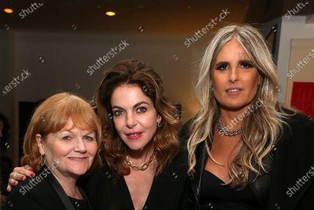 Stock Image of Lesley Nicol, Claudia Gerini and Tiziana Rocca
