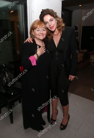 Stock Picture of Lesley Nicol and Claudia Gerini