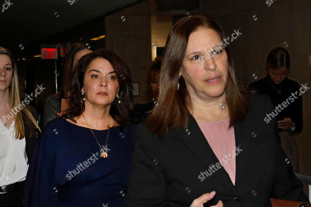 Annabella Sciorra, Joan Illuzzi. Actress Annabella Sciorra, center, arrives as a witness in Harvey Weinstein's rape trial, with Assistant District Attorney Joan Illuzzi, right, in New York