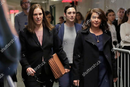 Annabella Sciorra, Joan Illuzzi. Actress Annabella Sciorra, right, along with with Assistant District Attorney Joan Illuzzi, left, returns after a lunch break in Harvey Weinstein's rape trial, in New York