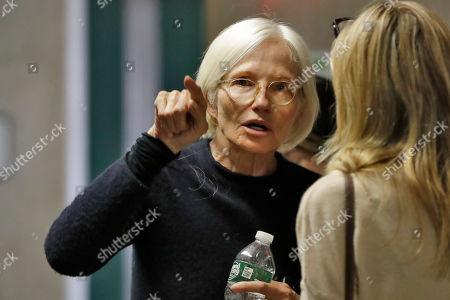 Actress Ellen Barkin waits to attend the rape trial of Harvey Weinstein, in New York