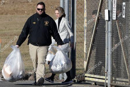 Michelle Carter leaves the Bristol County jail, in Dartmouth, Mass., after serving most of a 15-month manslaughter sentence for urging her suicidal boyfriend to kill himself in 2014. The 23-year-old, released three months early for good behavior, will serve five years of probation