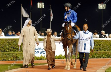 DUBAI LOVE (Pat Cosgrave) with Saeed Bin Suroor after The UAE 1000 Guineas Meydan