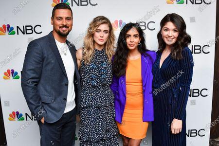 J.R. Ramirez, Melissa Roxburgh, Parveen Kaur and guest