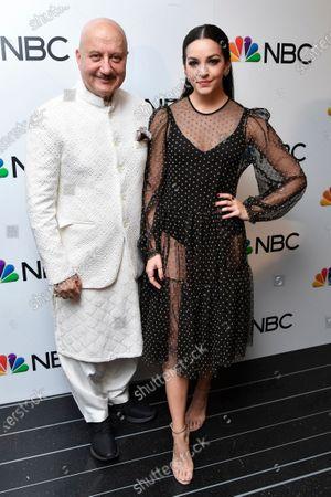 Anupam Kher and Ana Villafane