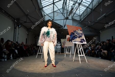 A model presents a creation from the Spring/Summer 2020 Haute Couture collection by Dutch-Vietnamese designer Xuan-Thu Nguyen for her label Xuan during the Paris Fashion Week, in Paris, France, 23 January 2020. The presentation of the Haute Couture collections runs from 20 to 23 January.