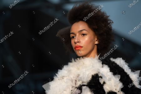 Stock Picture of A model presents a creation from the Spring/Summer 2020 Haute Couture collection by Dutch-Vietnamese designer Xuan-Thu Nguyen for her label Xuan during the Paris Fashion Week, in Paris, France, 23 January 2020. The presentation of the Haute Couture collections runs from 20 to 23 January.
