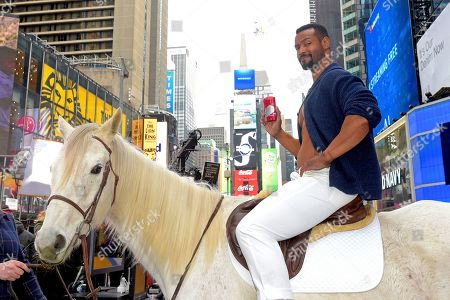 "Old Spice celebrates the 10-year anniversary of its viral ""Smell Like a Man, Man"" campaign with the return of the original Old Spice Guy, Isaiah Mustafa, sitting atop his trademark horse in New York's iconic Times Square, . The event also introduced the NEW ""Smell Like Your Own Man, Man"" campaign and the Ultra Smooth lineup, featuring subtle scents and dermatologist-tested formulas"