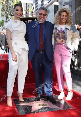 Hailee Steinfeld, Sir Lucian Grainge and Tori Kelly
