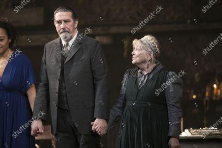 Ciaran Hinds (Serebryakov) and Anna Calder-Marshall (Nana) during the curtain call