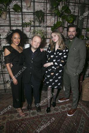 Rosalind Eleazar (Yelena), Toby Jones (Vanya), Aimee Lou Wood (Sonya) and Richard Armitage (Astrov)