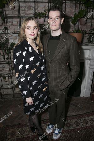 Stock Photo of Aimee Lou Wood (Sonya) and Connor Swindells