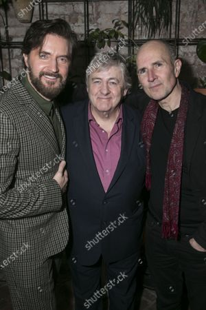 Stock Picture of Richard Armitage (Astrov), Peter Wight (Telegin) and Ian Rickson (Director)