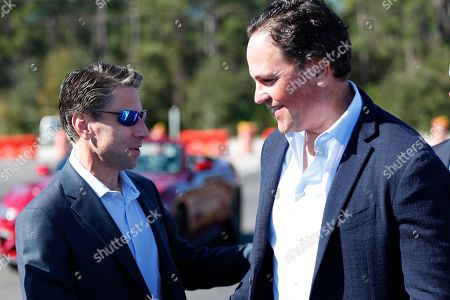 Mike Piazza, Jeff Wilpon. Former New York Mets catcher Mike Piazza, right, is greeted by Mets COO Jeff Wilpon as he arrives at a street naming ceremony in front of the Mets spring training facility, in Port St. Lucie, Fla