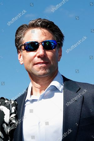 New York Mets COO Jeff Wilpon is shown during a street naming ceremony in front of the Mets spring training facility, in Port St. Lucie, Fla