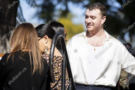 English singer Sam Smith attends the ceremony honoring Universal Music Group CEO Sir Lucian Grainge with the 2,685th star on the Hollywood Walk of Fame in Hollywood, California, USA, 23 January 2020. The star was dedicated in the category of Recording.