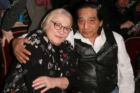 Stock Image of Josiane Balasko and George Aguilar
