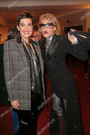 Cristina Cordula and Arielle Dombasle