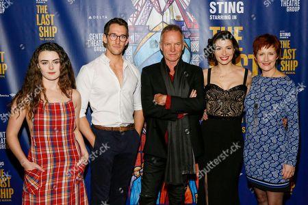 Sophie Reid, Oliver Savile, Sting, Frances McNamee and Jackie Morrison