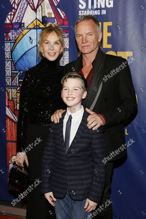 Trudie Styler, Iain Armitage and Sting