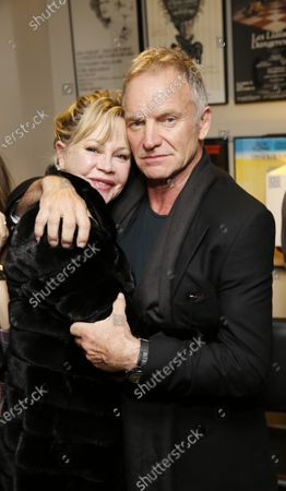Melanie Griffith and Sting