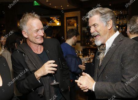 Sting and Pierce Brosnan