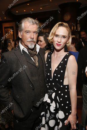 Pierce Brosnan and Orla Gormley