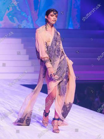 Valentina Sampaio on the catwalk