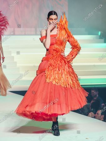 Stock Picture of Pauline Hoarau on the catwalk