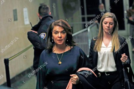 Stock Picture of Actress Annabella Sciorra, center, leaves Manhattan Criminal Court after appearing at Harvey Weinstein's rape and sexual assault trial, in New York