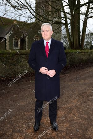 Huw Edwards is the guest speaker for Queen Elizabeth II on her annual visit at West Newton.Unfortunately, Her Royal Higness was unable to attend the meeting after not feeling well.
