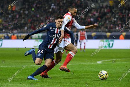 Editorial photo of Stade Reims v Paris Saint-Germain, Coupe de La Ligue, Semi-Final, Football, Stade Auguste-Delaune II, Remis, France - 22 Jan 2020