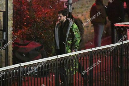 Actor Kit Harrington takes part in the filming of a Marvel film in Camden in London