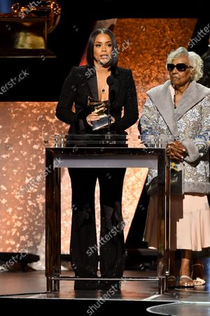 Stock Picture of Lauren London and Angelique Smith - Best Rap Performance - Racks in the Middle
