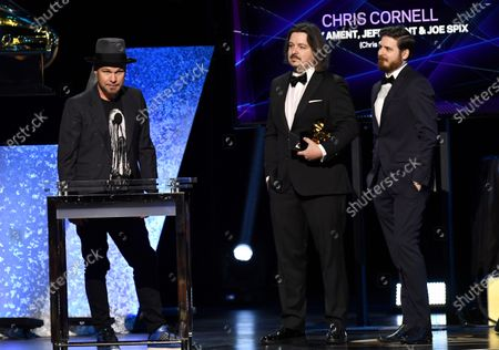 Stock Picture of Jeff Ament, Barry Ament and Joe Spix - Best Recording Package - Chris Cornell
