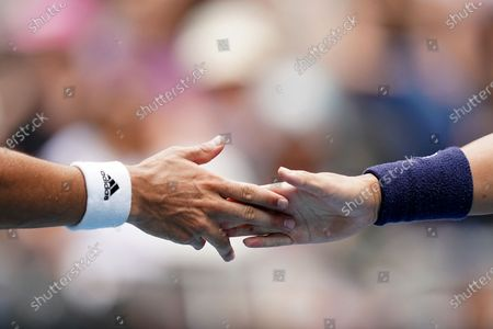 Ji Sung Nam (R) and Min-Kyu Song of Korea during their first round doubles match against Jordan Thompson and Lleyton Hewitt of Australia on day five of the Australian Open tennis tournament at Melbourne Park in Melbourne, Australia, 24 January 2020.