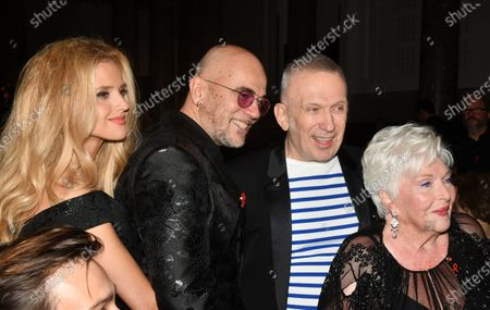 Pascal Obispo and Jean Paul Gaultier and Line Renaud