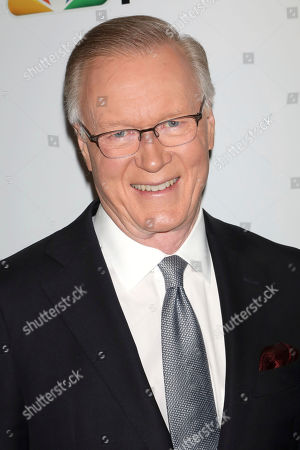 Stock Picture of Chuck Scarborough attends the NBC midseason 2020 press day party hosted by NBC and The Cinema Society at the Rainbow Room Gallery Bar, in New York
