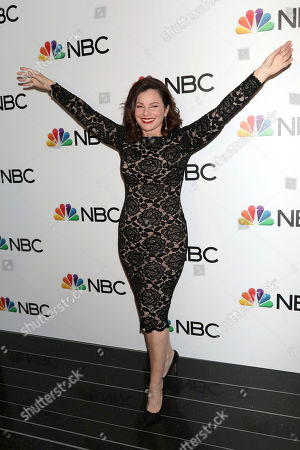 Stock Picture of Fran Drescher attends the NBC midseason 2020 press day party hosted by NBC and The Cinema Society at the Rainbow Room Gallery Bar, in New York