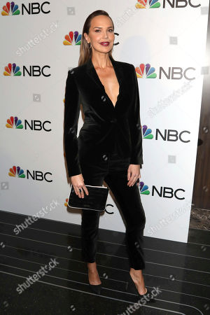Arielle Kebbel attends the NBC midseason 2020 press day party hosted by NBC and The Cinema Society at the Rainbow Room Gallery Bar, in New York