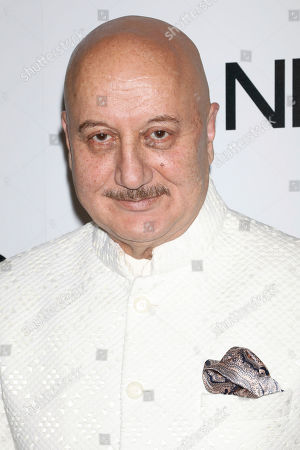 Anupam Kher attends the NBC midseason 2020 press day party hosted by NBC and The Cinema Society at the Rainbow Room Gallery Bar, in New York