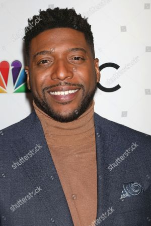 Jocko Sims attends the NBC midseason 2020 press day party hosted by NBC and The Cinema Society at the Rainbow Room Gallery Bar, in New York