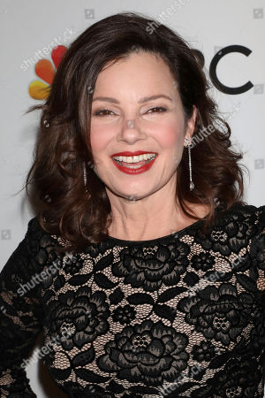 Stock Image of Fran Drescher attends the NBC midseason 2020 press day party hosted by NBC and The Cinema Society at the Rainbow Room Gallery Bar, in New York