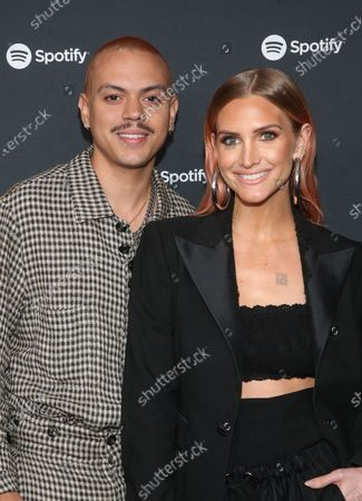 Stock Image of Evan Ross and Ashlee Simpson